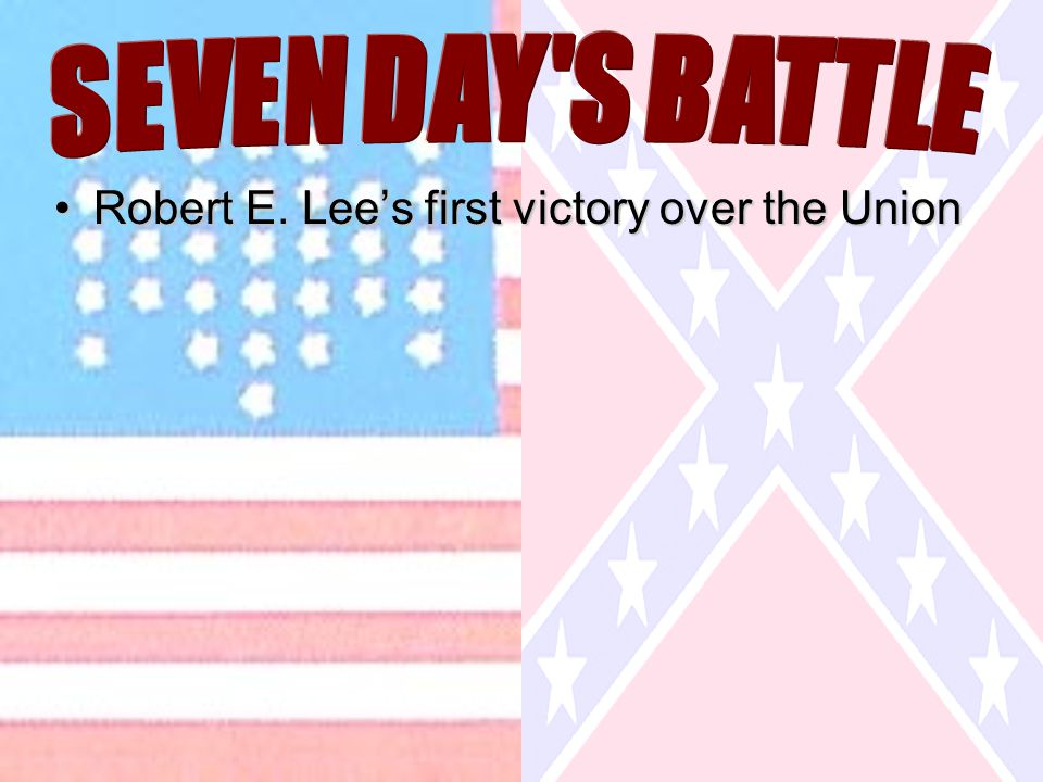 Robert E. Lee's first victory over the UnionRobert E. Lee's first victory over the Union