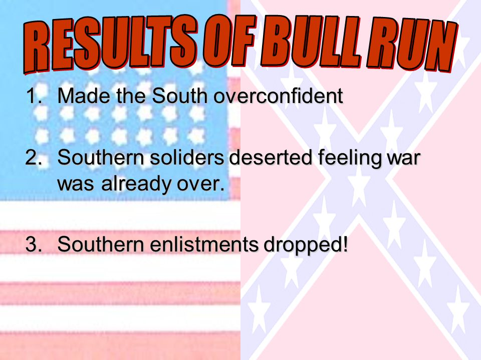 1.Made the South overconfident 2.Southern soliders deserted feeling war was already over.