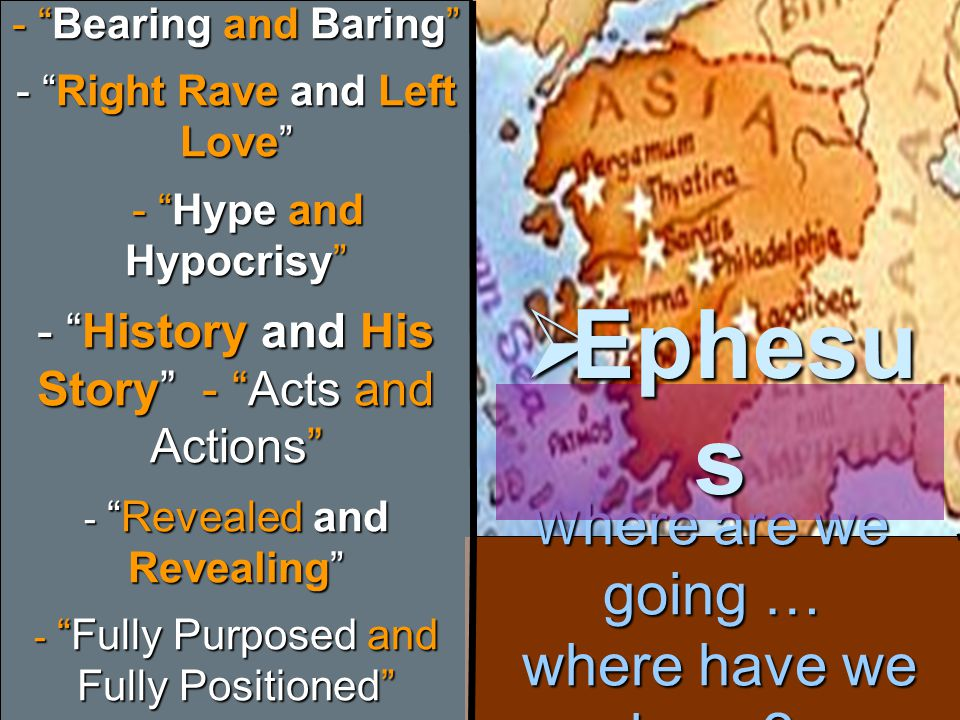 Last and First Where are we going… where have we been?  Thyatira