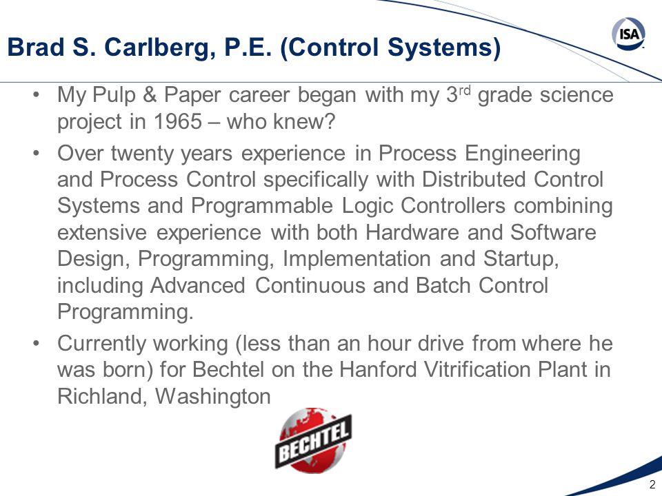 2 Brad S. Carlberg, P.E.