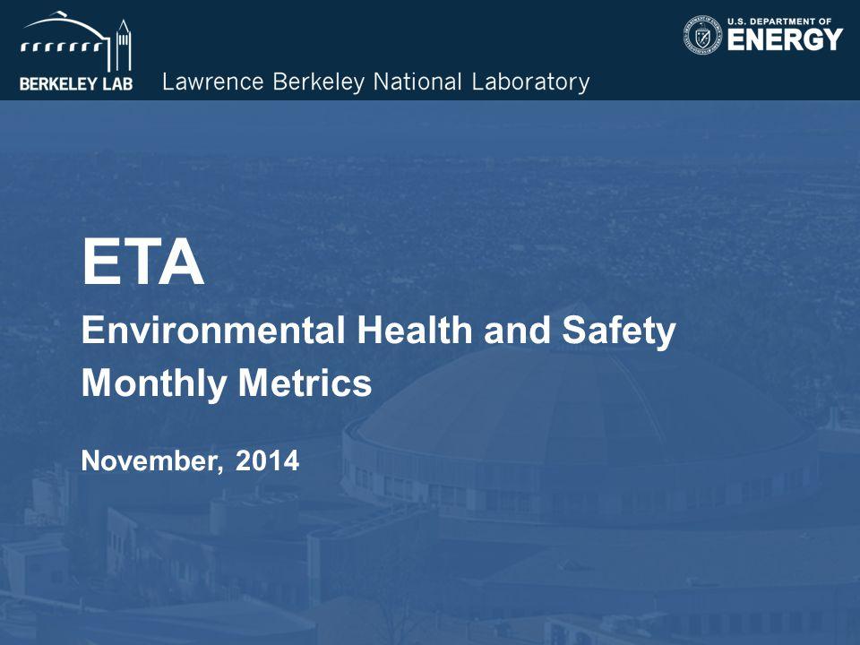 ETA Environmental Health and Safety Monthly Metrics November, 2014