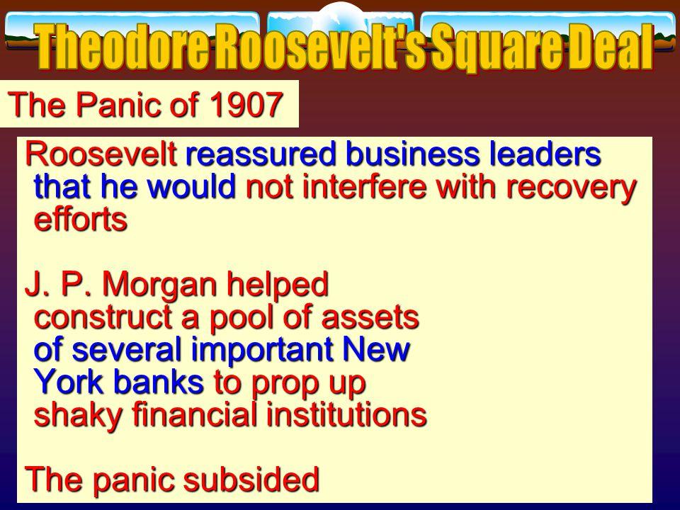 The Panic of 1907 U. S.