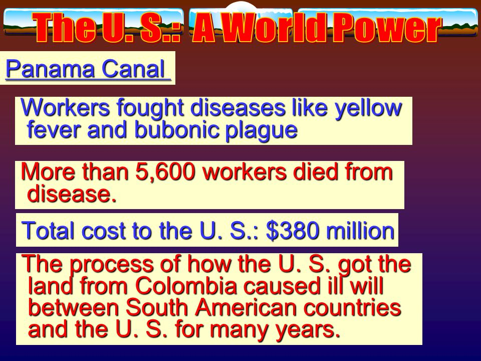 Panama Canal U. S. negotiated treaty with Colombia Panamanian independence U.