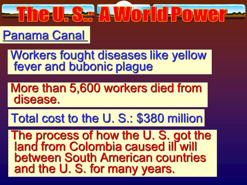 Panama Canal U. S. negotiated treaty with Colombia Panamanian independence U.