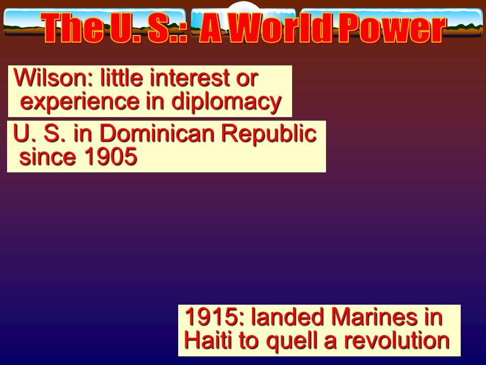Dollar Diplomacy Example of U. S. police power: Taft Example of U.