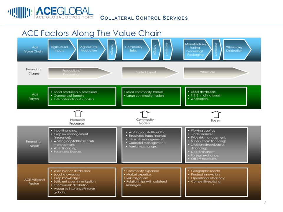 C OLLATERAL C ONTROL S ERVICES ACE GLOBAL: E5C and approval process 28