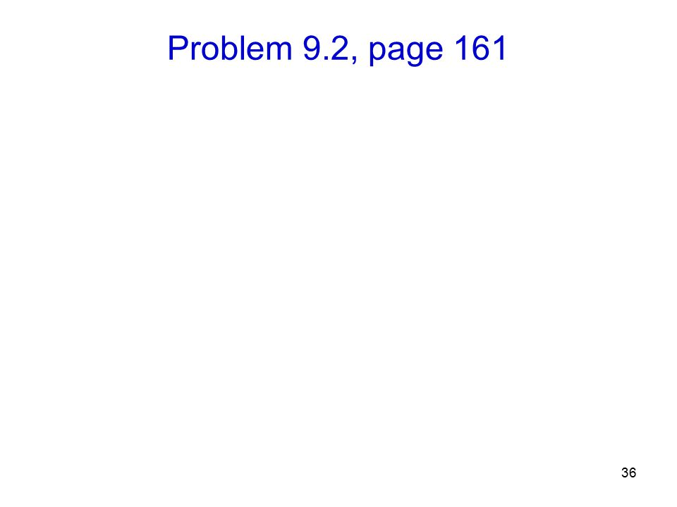 Problem 9.2, page 161 36