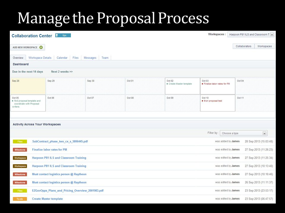 Manage the Proposal Process