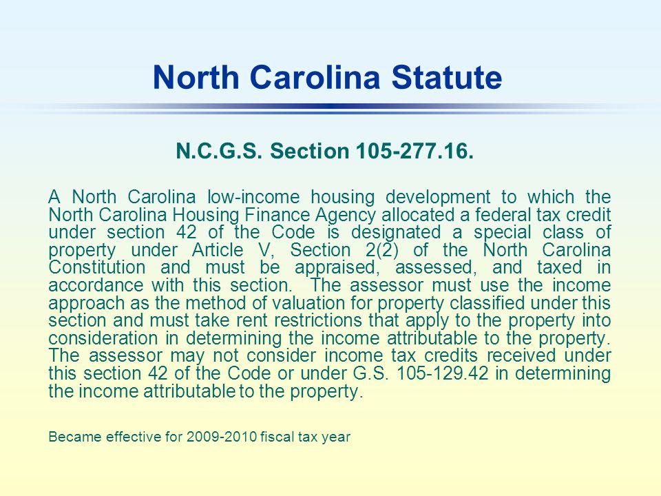 North Carolina Statute N.C.G.S. Section 105-277.16.