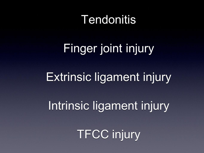 ECU Tendinitis Post-op Ulnar gutter splint 2-4 weeks Progressive use as tolerated