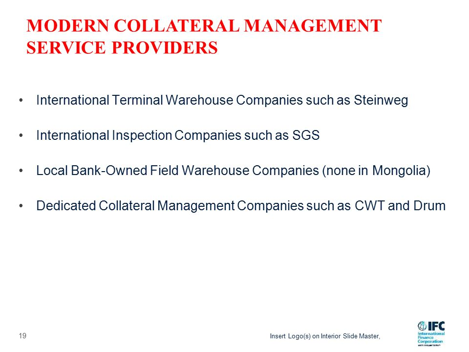 Insert Logo(s) on Interior Slide Master, Is the warehouse receipt recognised under Mongolian Law.