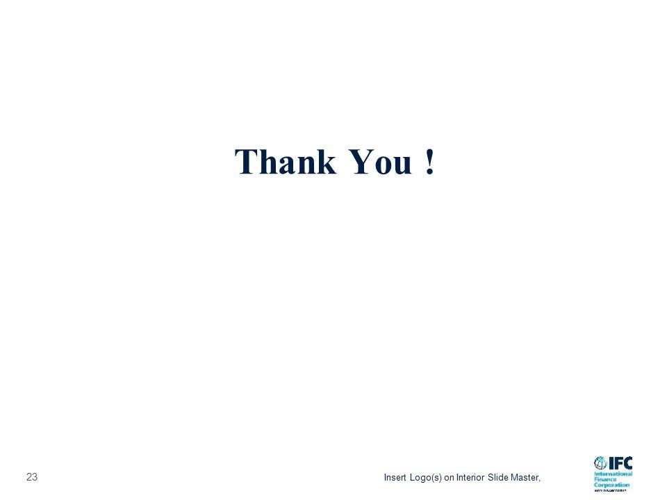 Insert Logo(s) on Interior Slide Master, 23 Thank You !