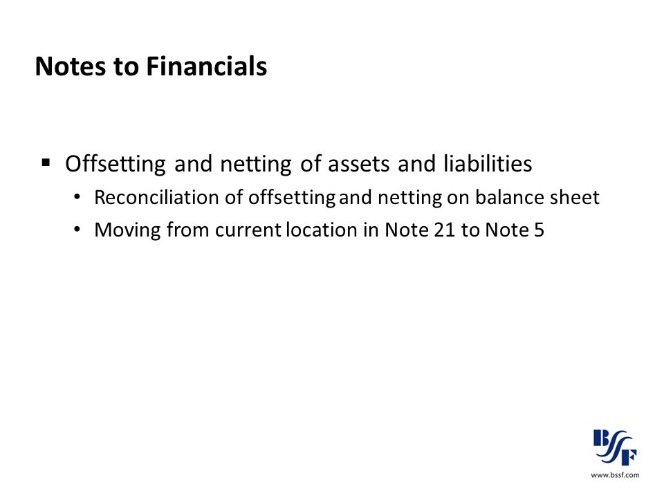 Notes to Financials  Offsetting and netting of assets and liabilities Reconciliation of offsetting and netting on balance sheet Moving from current l