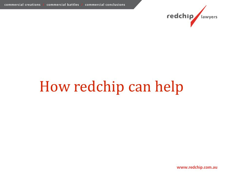 How redchip can help