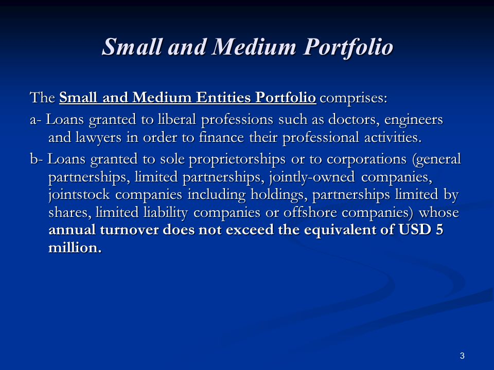 SME stands for small and medium-sized enterprises as defined in EU law.