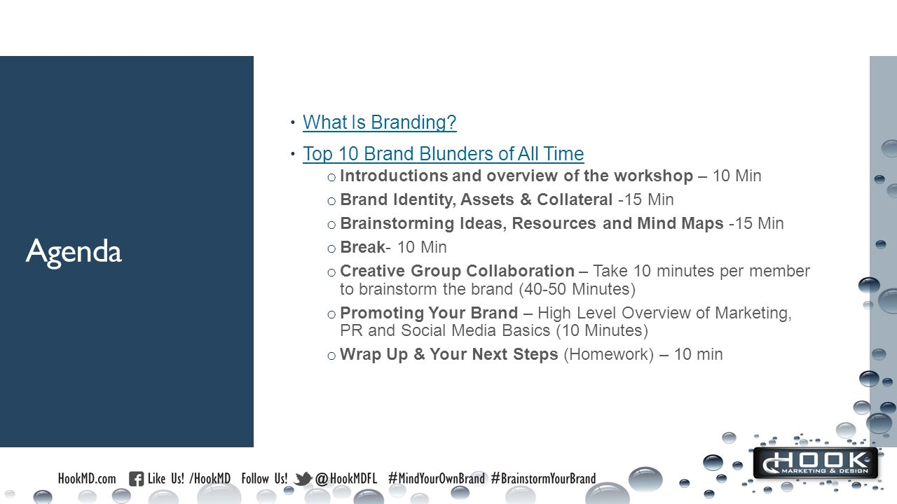Agenda  What Is Branding. What Is Branding.