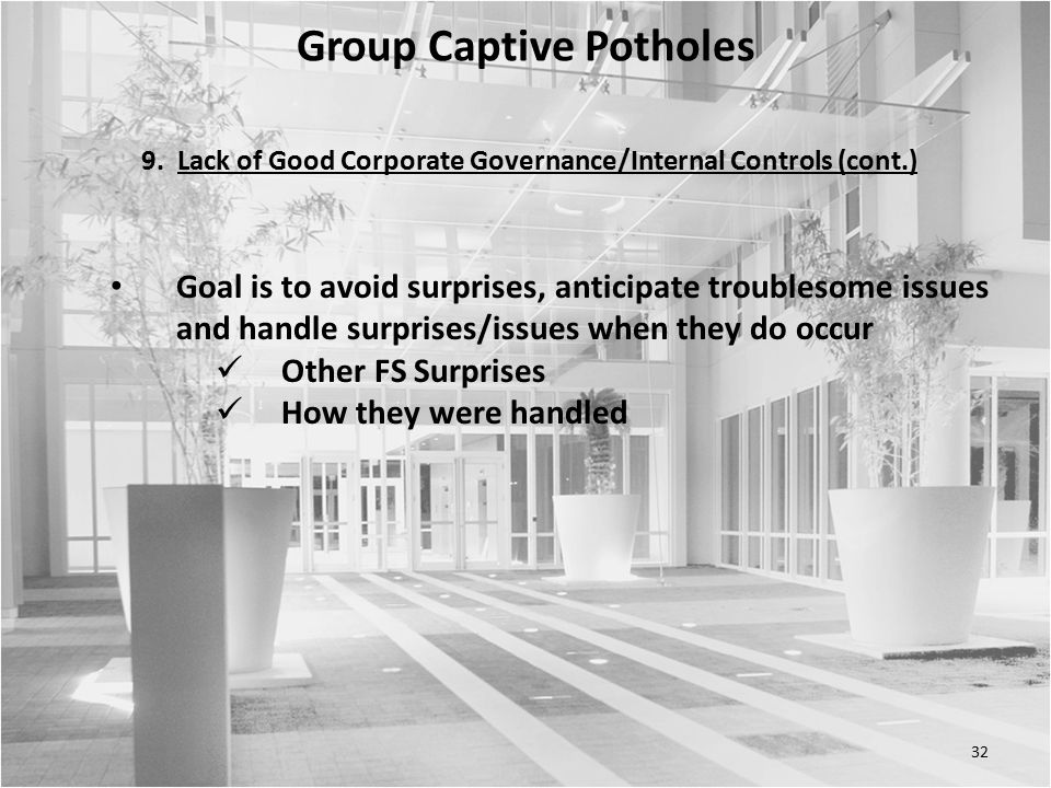 32 Group Captive Potholes 9.