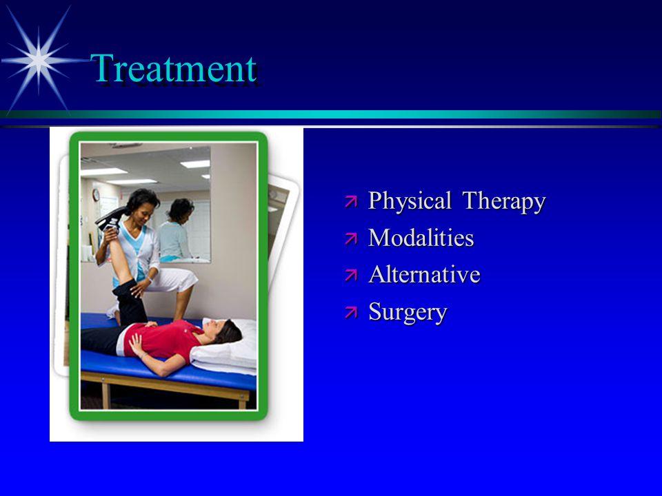 Treatment ä Physical Therapy ä Modalities ä Alternative ä Surgery
