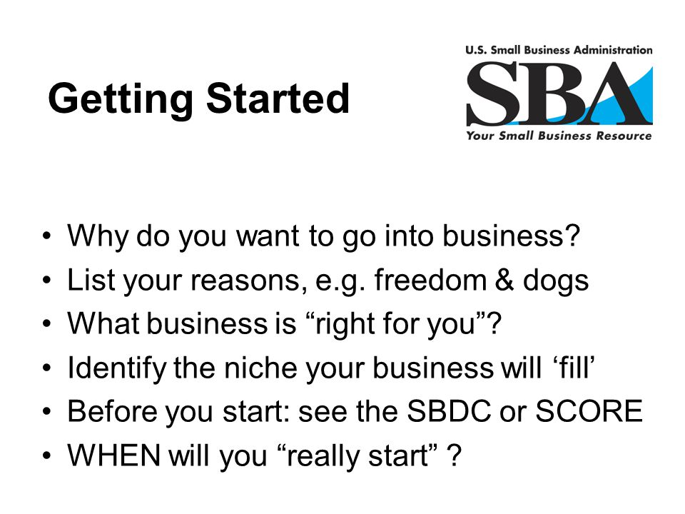 """Why do you want to go into business? List your reasons, e.g. freedom & dogs What business is """"right for you""""? Identify the niche your business will 'f"""