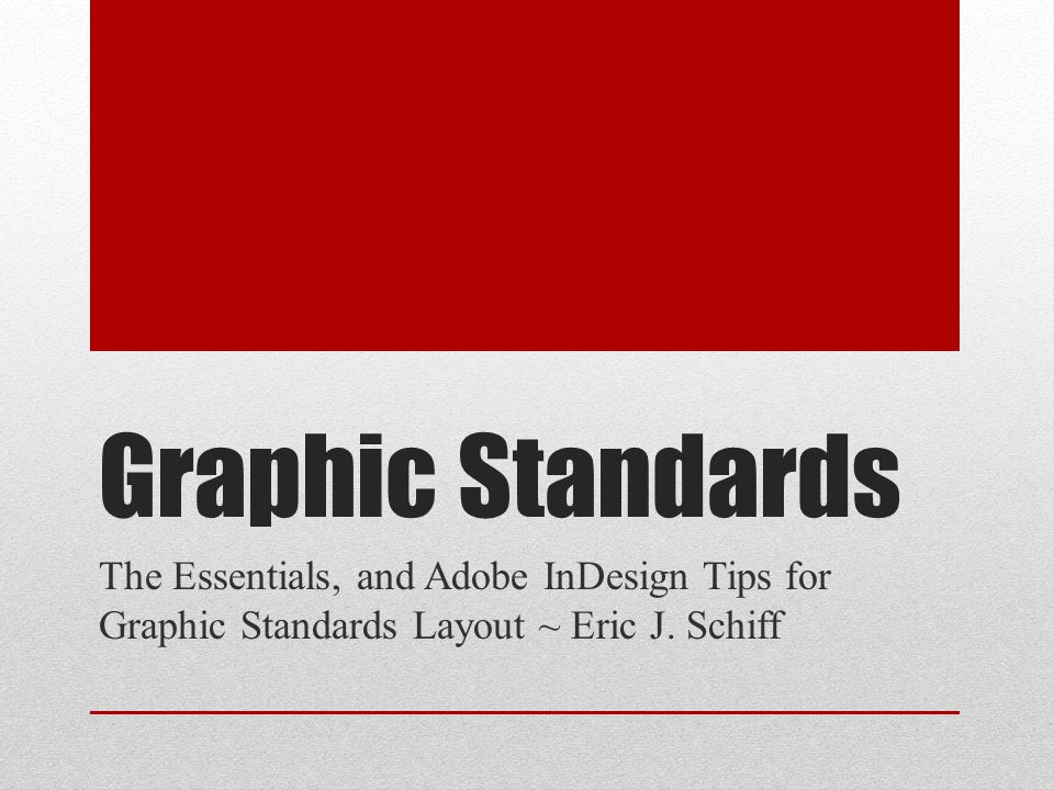 The Package Graphic Standards cover design should reflect the organization brand and accompanying collateral.