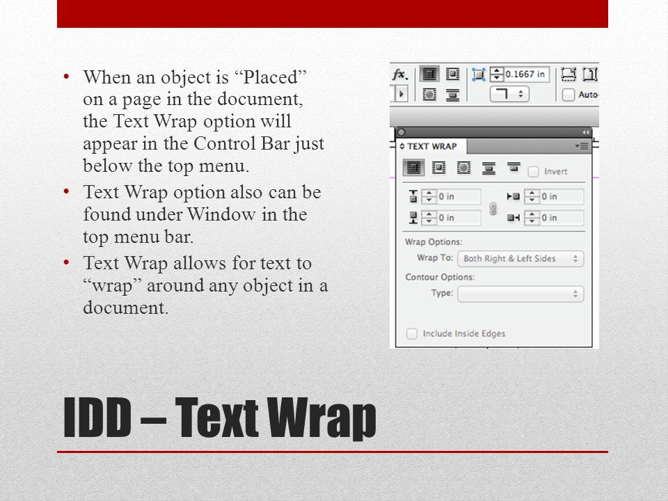 IDD - Extras Hiding Frame Edges is very helpful when working with multiple placed objects and elements on pages – found under View from top menu bar under Extras Art objects, images, PDFs look pixelated or NOT sharp.