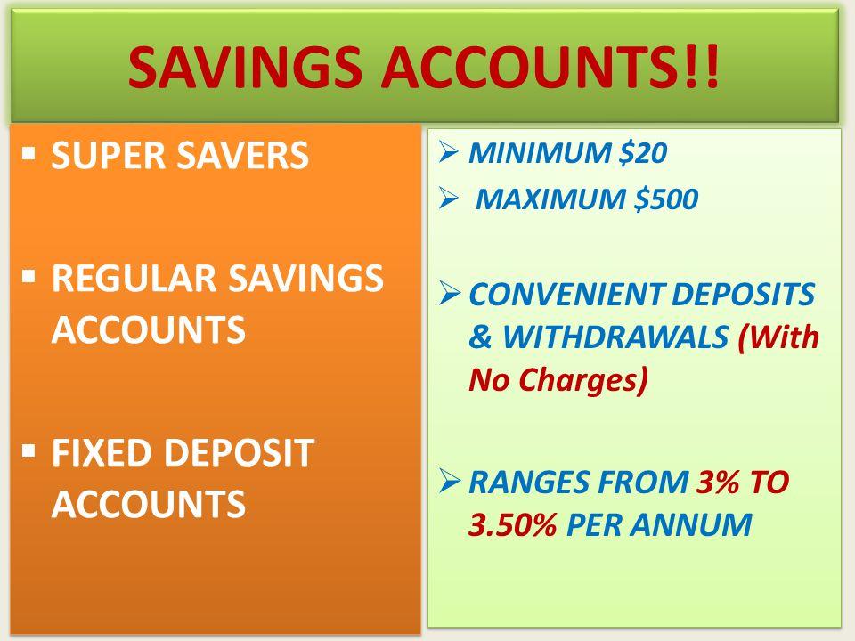 SAVINGS ACCOUNTS!.