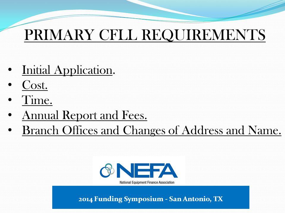 Automobile Financings 2014 Funding Symposium - San Antonio, TX