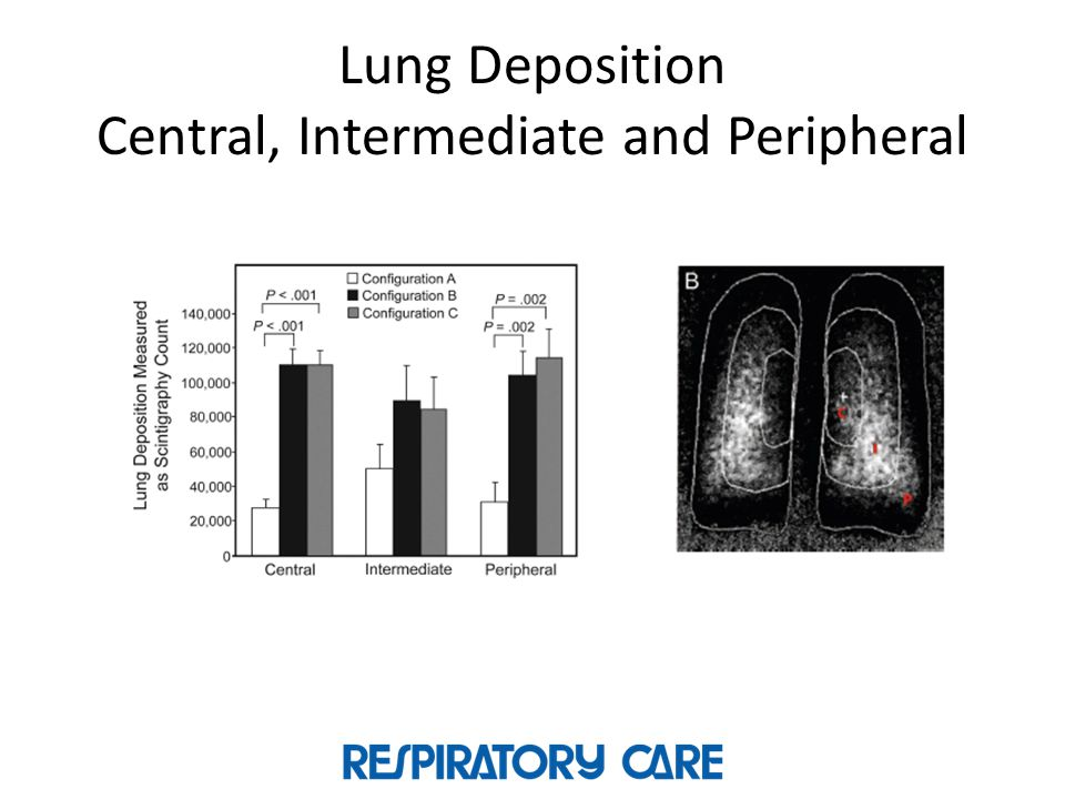 Lung Deposition Central, Intermediate and Peripheral