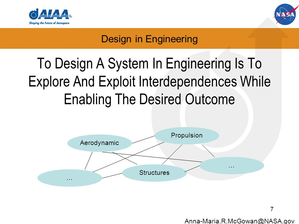Design in Engineering To Design A System In Engineering Is To Explore And Exploit Interdependences While Enabling The Desired Outcome 7 Anna-Maria.R.M