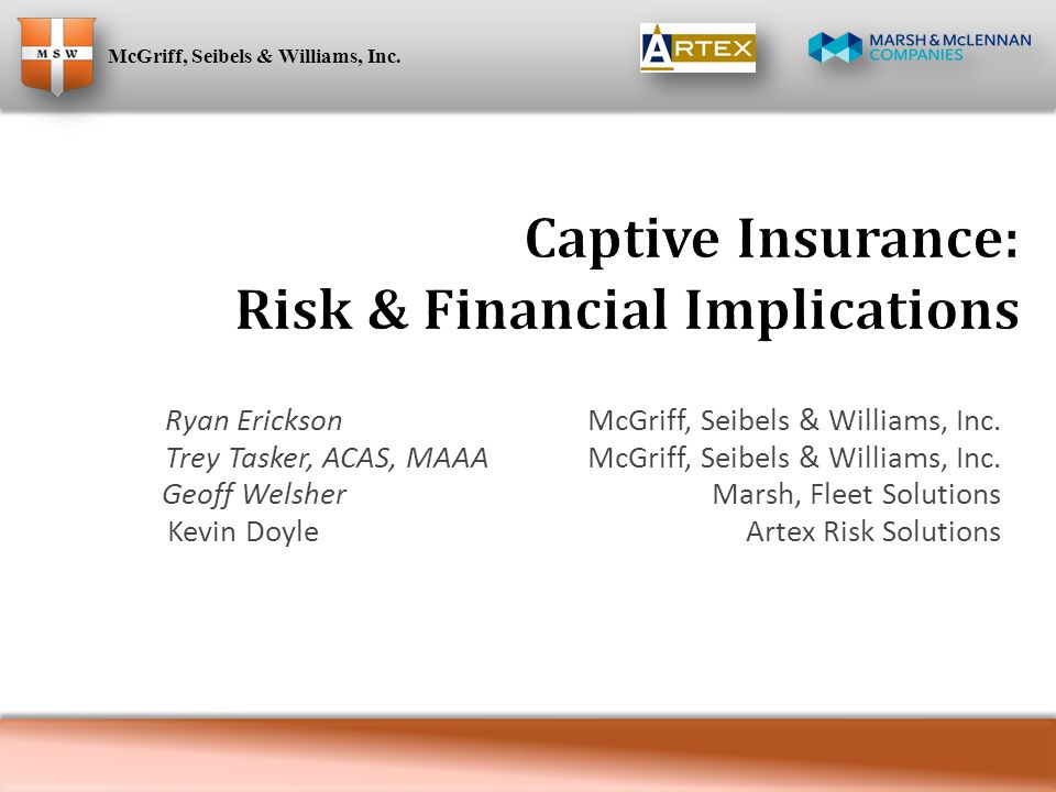  The Value Equation of Captives ◦ The impact of risk information ◦ In comparison to commercial insurance ◦ Real vs.