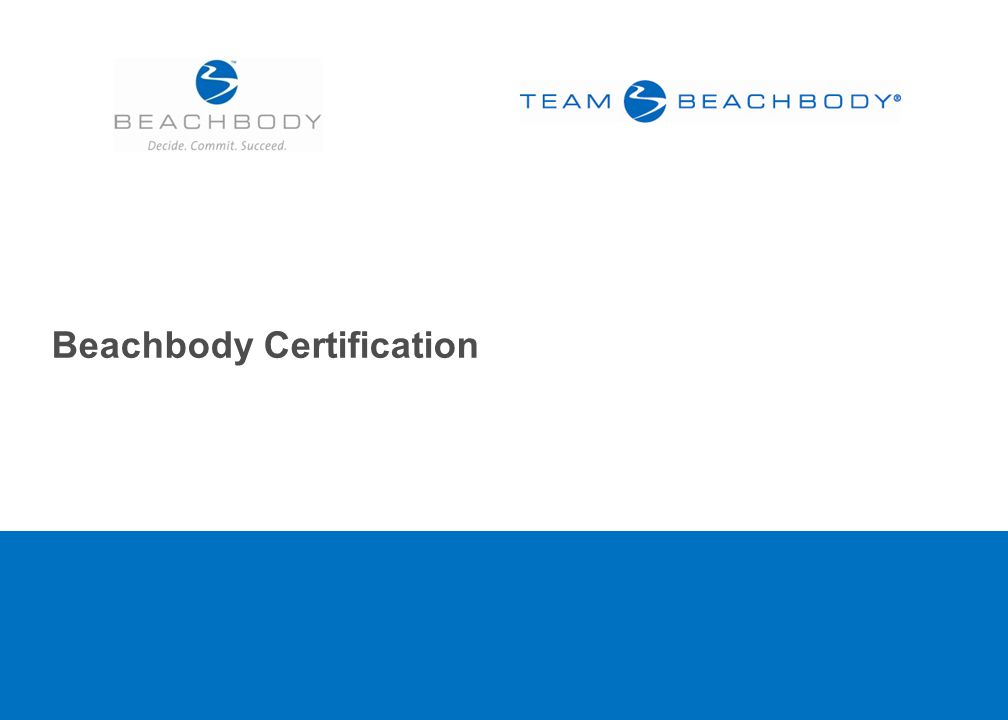 Beachbody Certification