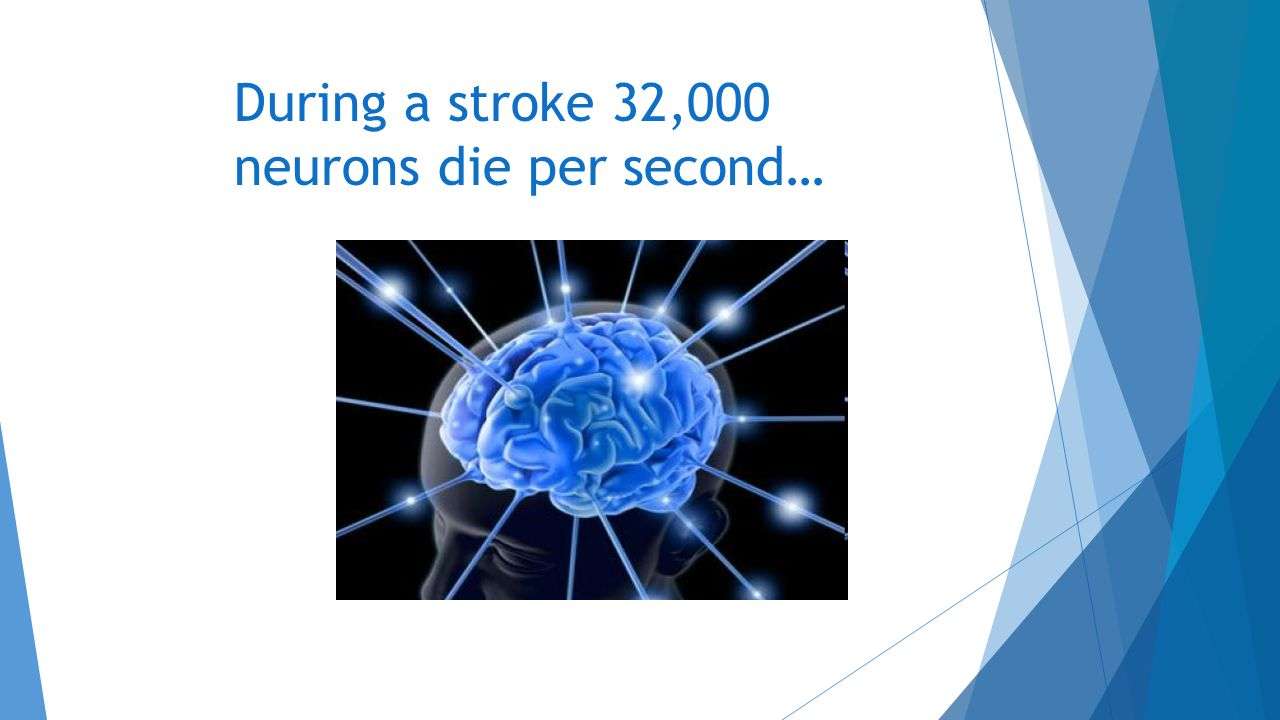 During a stroke 32,000 neurons die per second…