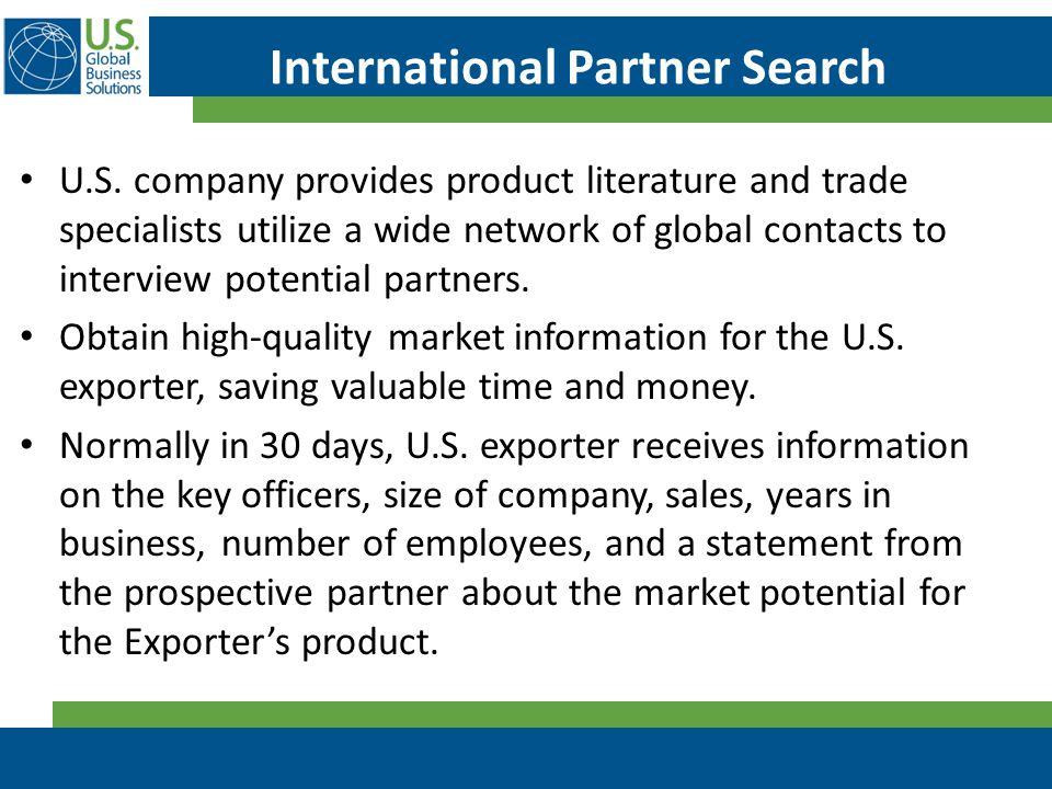 International Partner Search U.S.