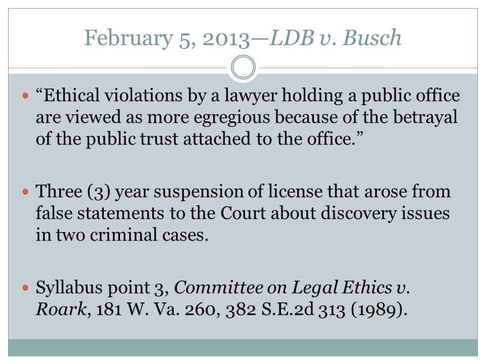 February 5, 2013—LDB v.