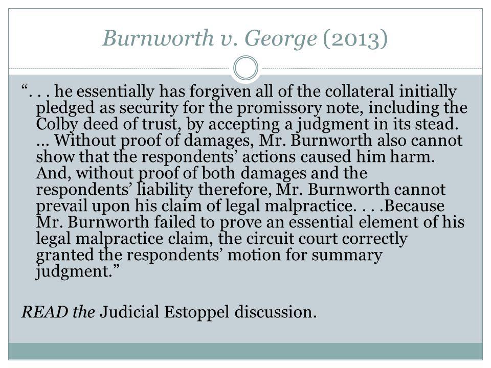 Burnworth v. George (2013) ...