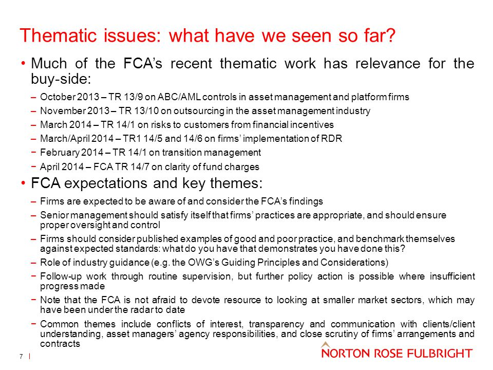 Best execution: key points from ESMA (2) 28 Transparency of venue selection: Where fees applied differ between execution venues/entities, policies should provide sufficient information to allow clients to understand the relative advantages and disadvantages of different venues/entities Information to be clear, fair and not misleading and sufficient to prevent clients choosing solely on the basis of the firm's price policy Material changes : Firms need to review their policies annually and whenever there is a material change affecting its ability to obtain best execution Material change defined as a significant event or internal/external change that could impact parameters of best execution – firms to consider the materiality of changes to the relative importance of execution factors or to venues/entities on which it places significant reliance in meeting the overarching requirement Use of a single venue or entity: Firms can include a single venue or entity if they can show that this still allows them to satisfy the overarching best execution requirement Firms should reasonably expect that the venue/entity will enable it to obtain results that are at least as good as those it could reasonably expect from alternatives – the expectation needs to be supported by data or information published under Article 27, or by other internal analysis Publication of data by firms and trading venues: ESMA to develop RTS on the content, format and periodicity of execution data to be published by trading venues ESMA to develop RTS on the content and format of data to be published by firms