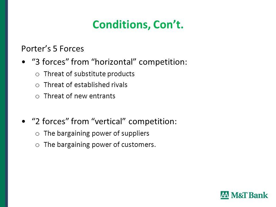 Conditions, Con't.