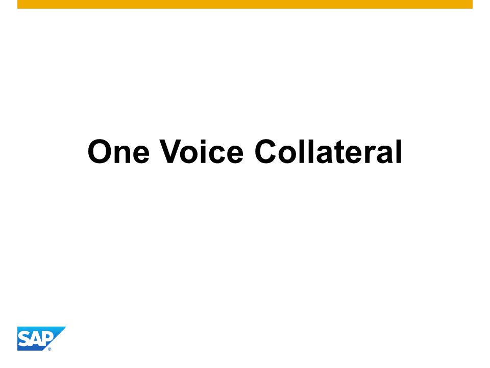 One Voice Collateral