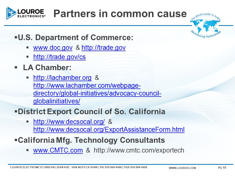 Partners in common cause  U.S.