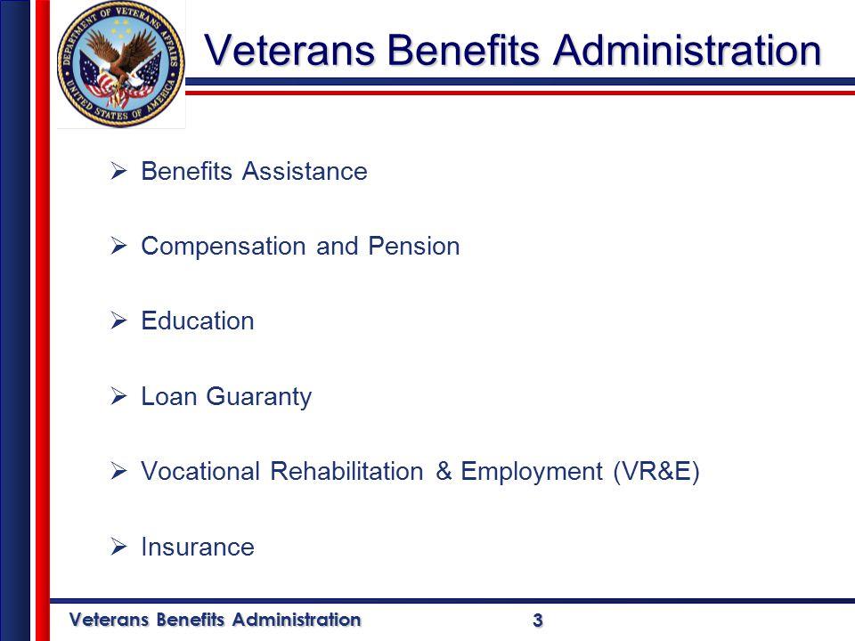 Veterans Benefits Administration 14Education  Post 9/11 GI Bill- (Chapter 33); August 2009  Montgomery GI Bill – Active Duty (Chapter 30)  Montgomery GI Bill – Selected Reserve (Chapter 1606)  Reserve Educational Assistance Program (REAP) (Chapter 1607)  Dependents' Educational Assistance (DEA) (Chapter 35)
