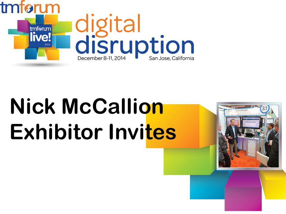 Nick McCallion Exhibitor Invites