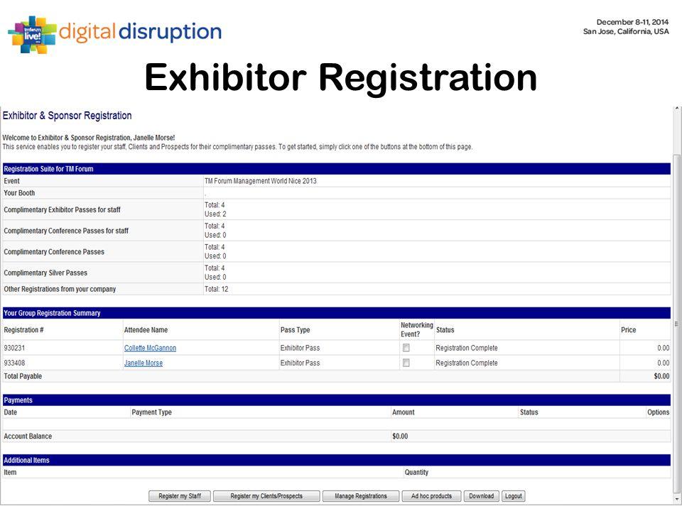 Exhibitor Registration