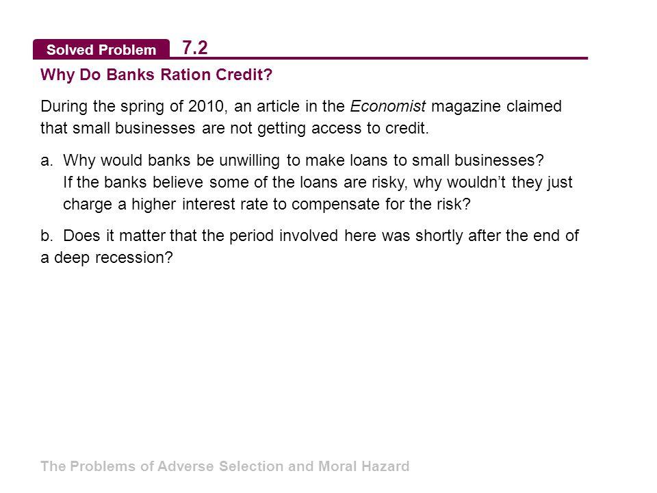 Solved Problem 7.2 Why Do Banks Ration Credit.