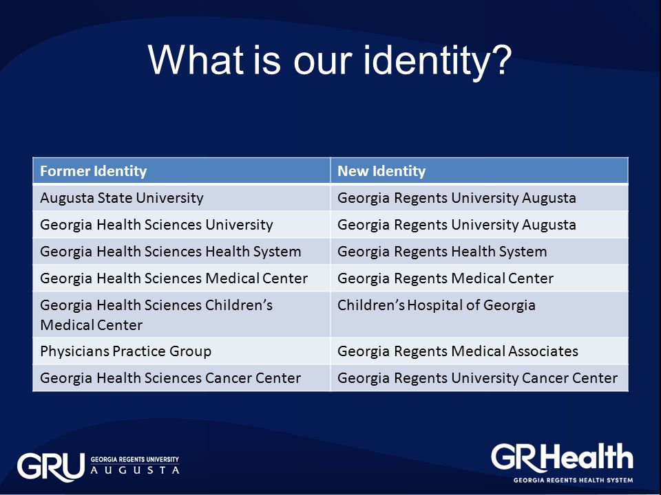 What is our identity.