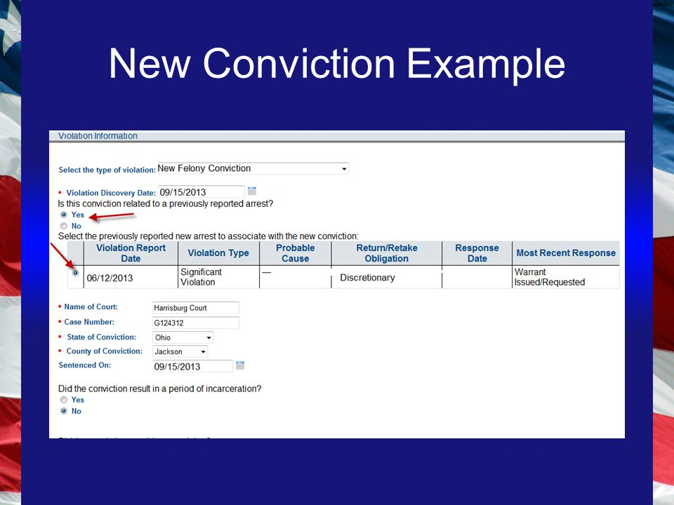 New Conviction Example