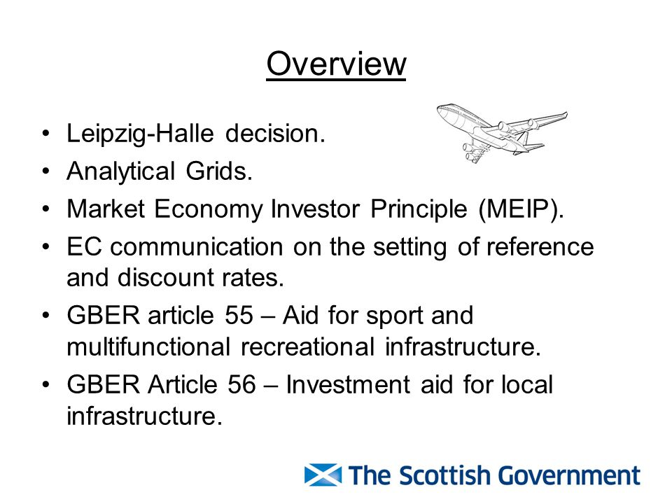 Overview Leipzig-Halle decision. Analytical Grids. Market Economy Investor Principle (MEIP). EC communication on the setting of reference and discount