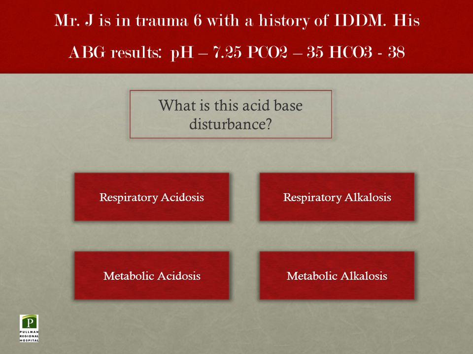 Mr. J is in trauma 6 with a history of IDDM.