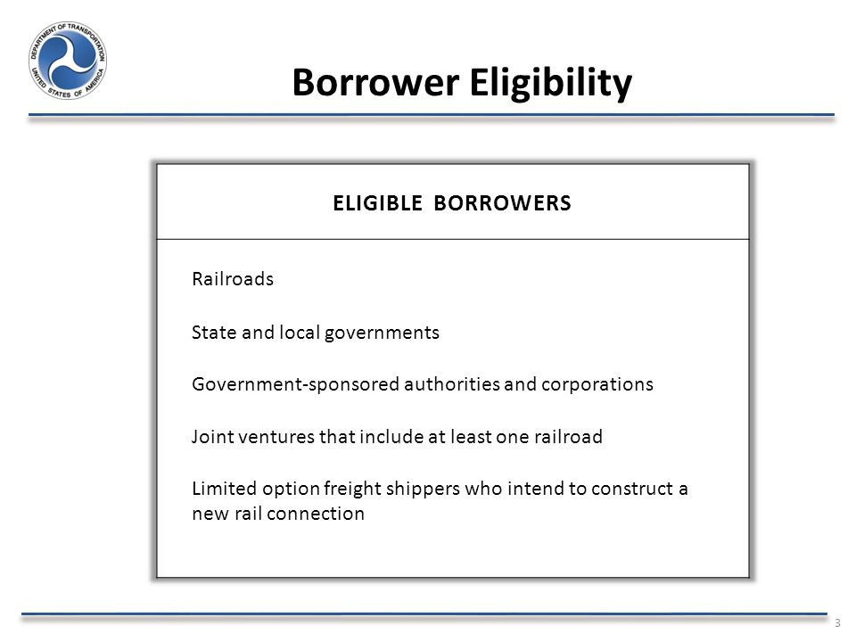 Borrower Eligibility 3