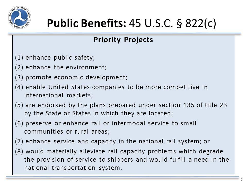 Public Benefits: 45 U.S.C.