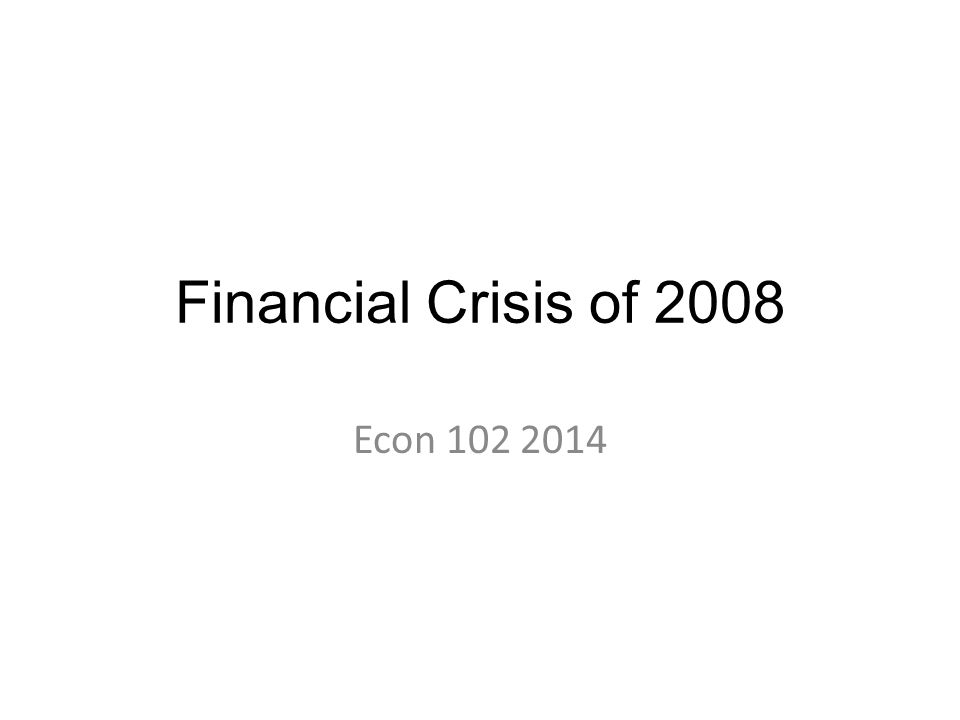 Worst recession in 80 years How did it happen.How was the situation before the crisis.